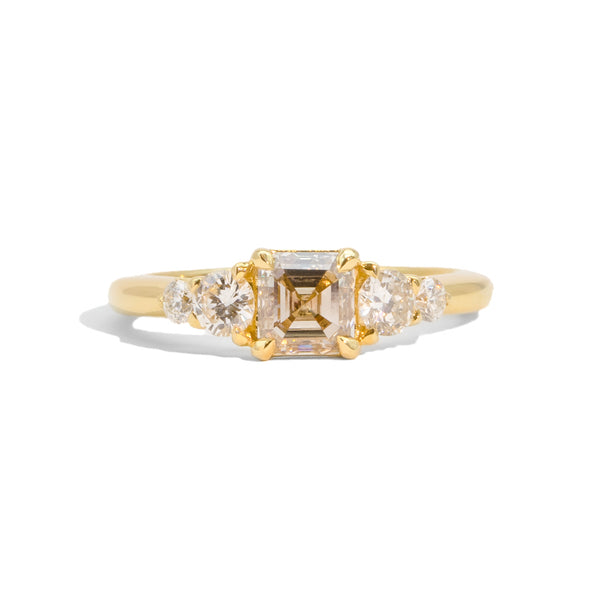 The Millie Five Stone Champagne Diamond Ring