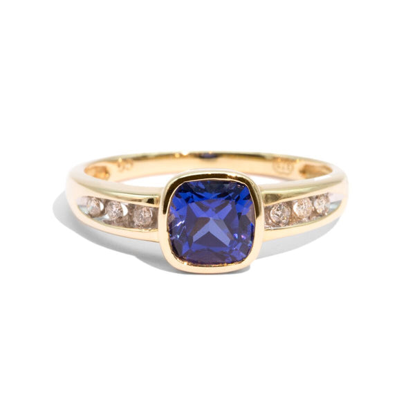 The Cassie Vintage Sapphire & Diamond Ring