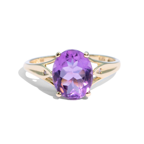 The Bianca Vintage Amethyst & Diamond Ring