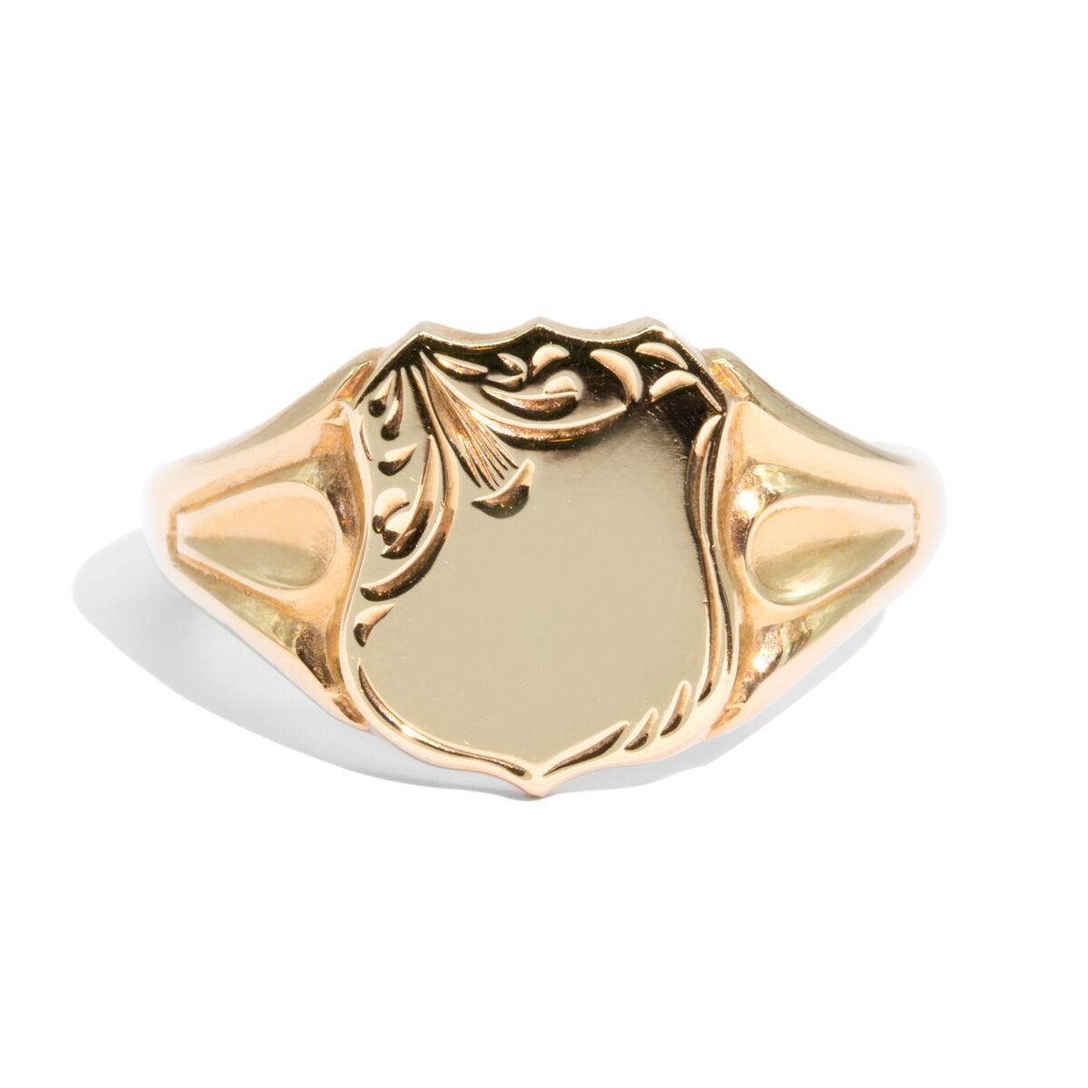 The Nathan Vintage Shield Signet Ring