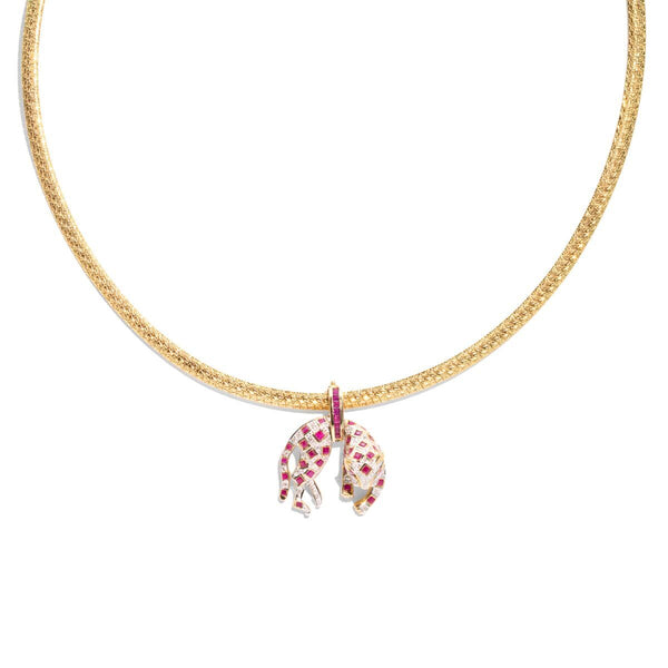 The Huda Vintage Ruby & Diamond Necklace