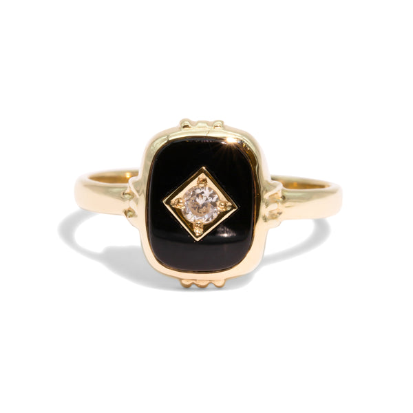 The Toto Vintage Onyx & Diamond Ring