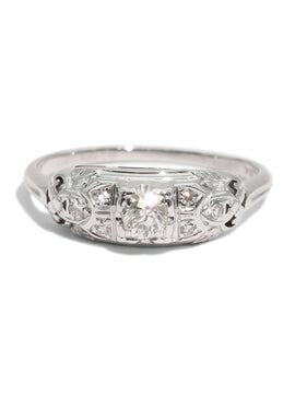 The Amelia Vintage Diamond Ring