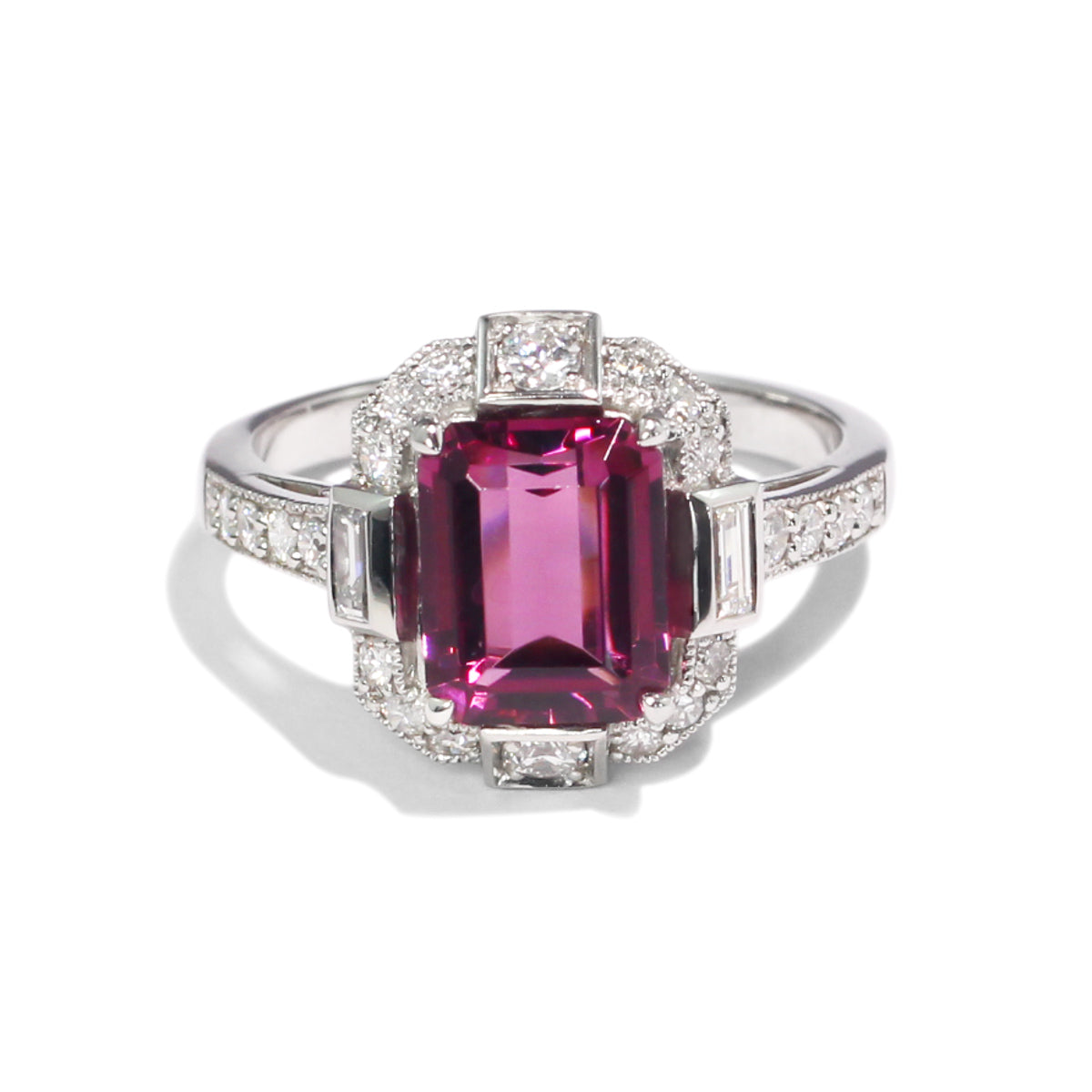 The Helo Vintage Tourmaline & Diamond Ring
