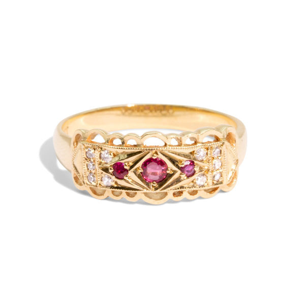 The Parvati Vintage Ruby & Diamond Ring