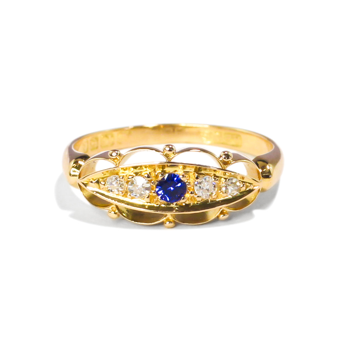 The Mary Vintage Sapphire & Diamond Ring