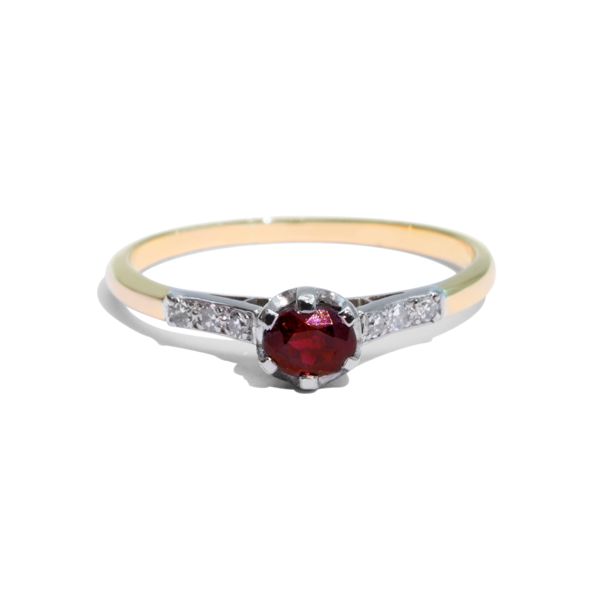The Phoenix Vintage Ruby & Diamond Ring