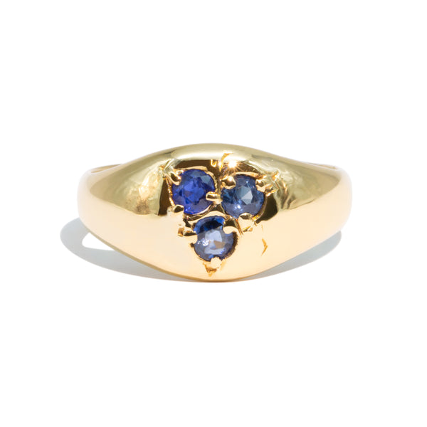 The Joelle Vintage Sapphire Signet Ring