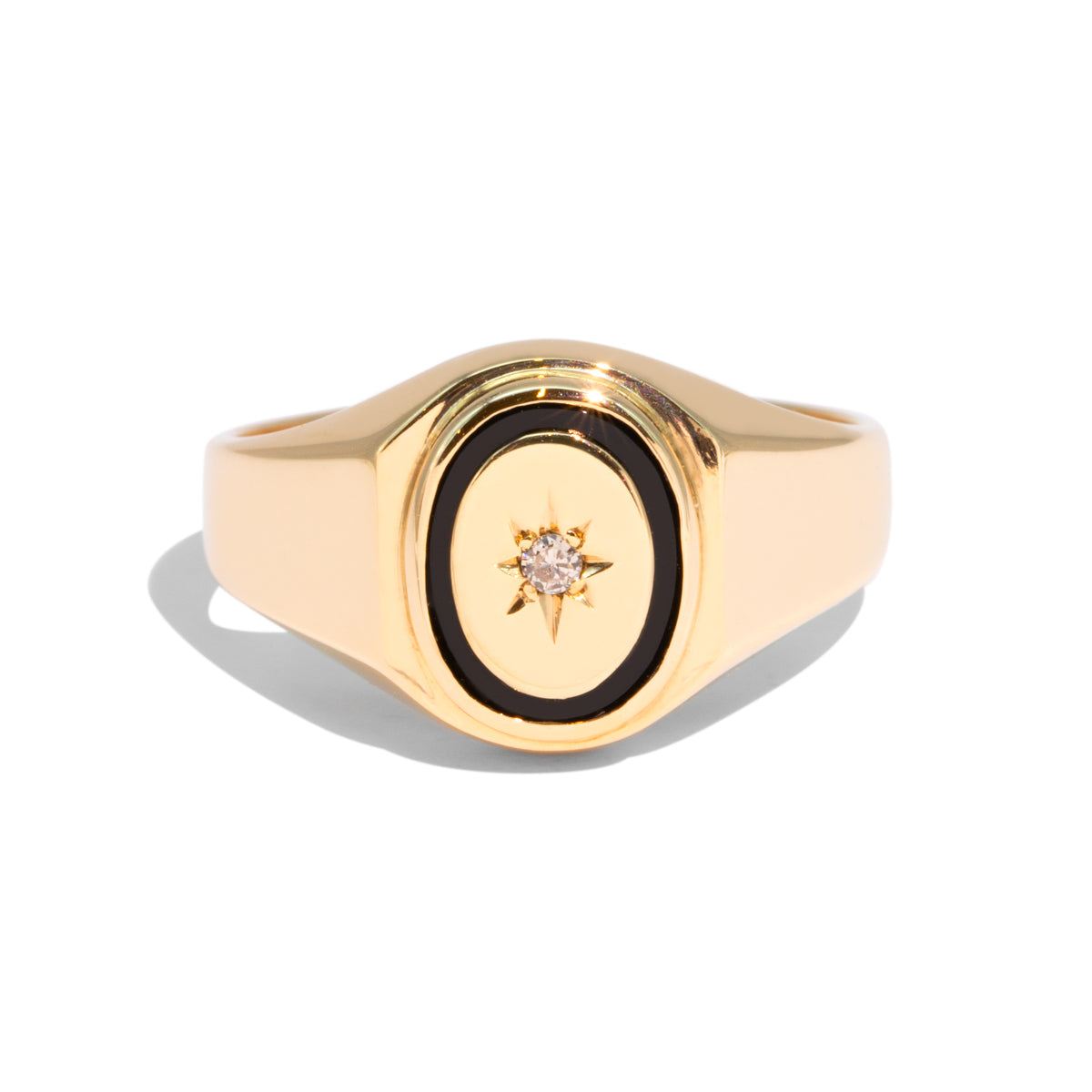 The Billie Vintage Diamond Signet Ring
