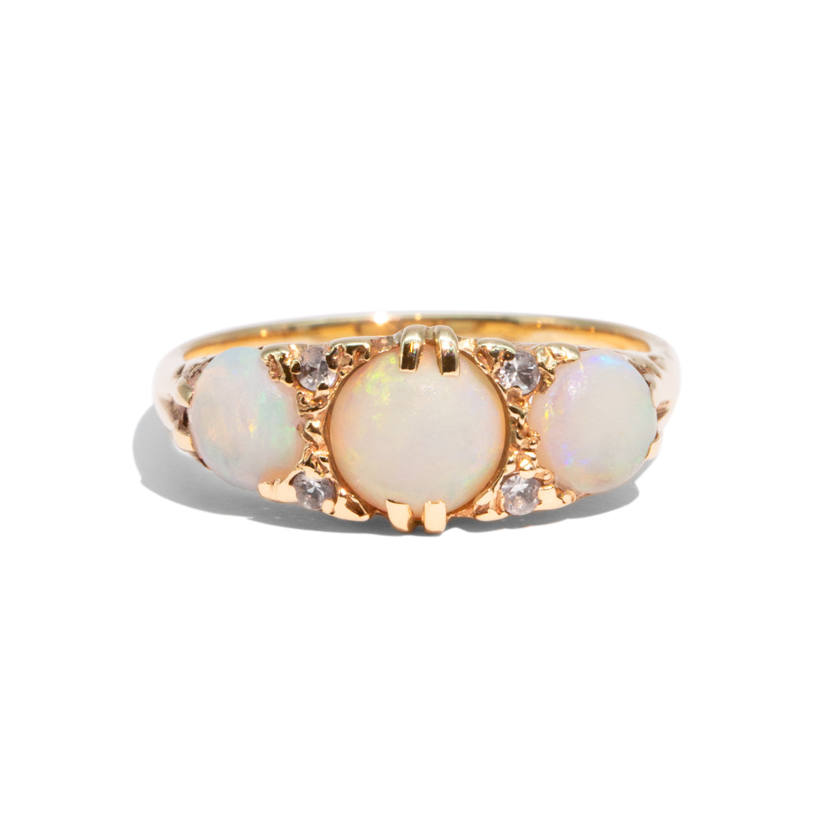 The Hermione Vintage Opal & Diamond Ring