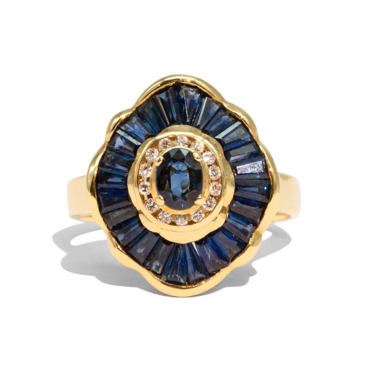The Camille Vintage Sapphire & Diamond Ring