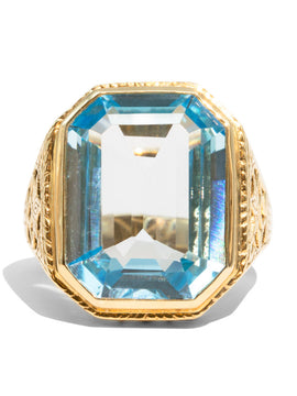 The Julia Vintage Topaz Ring