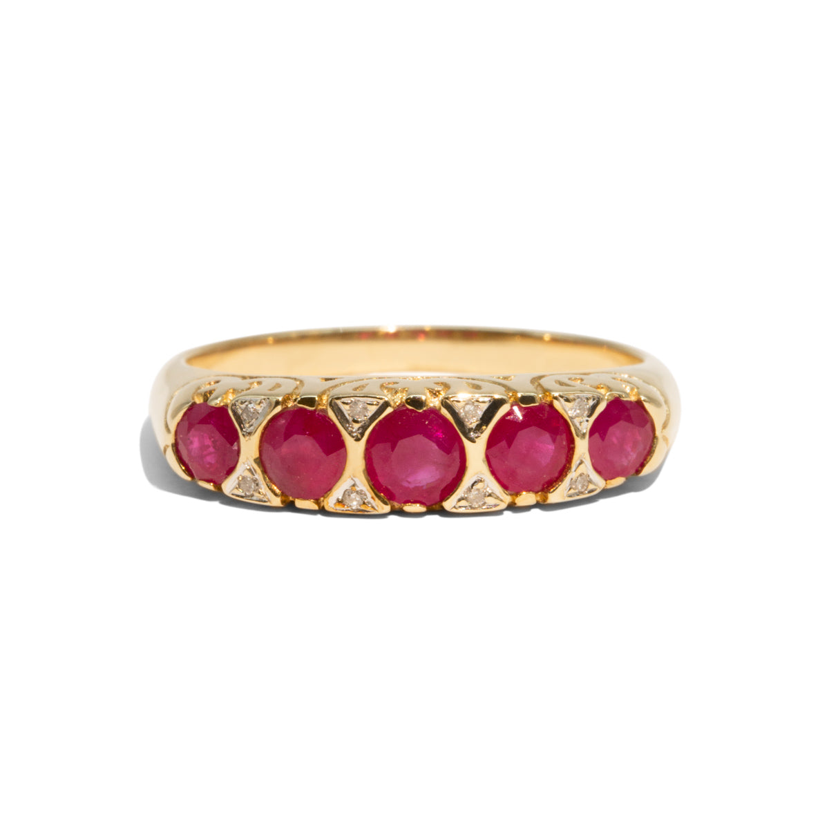 The Freya Vintage Ruby Ring