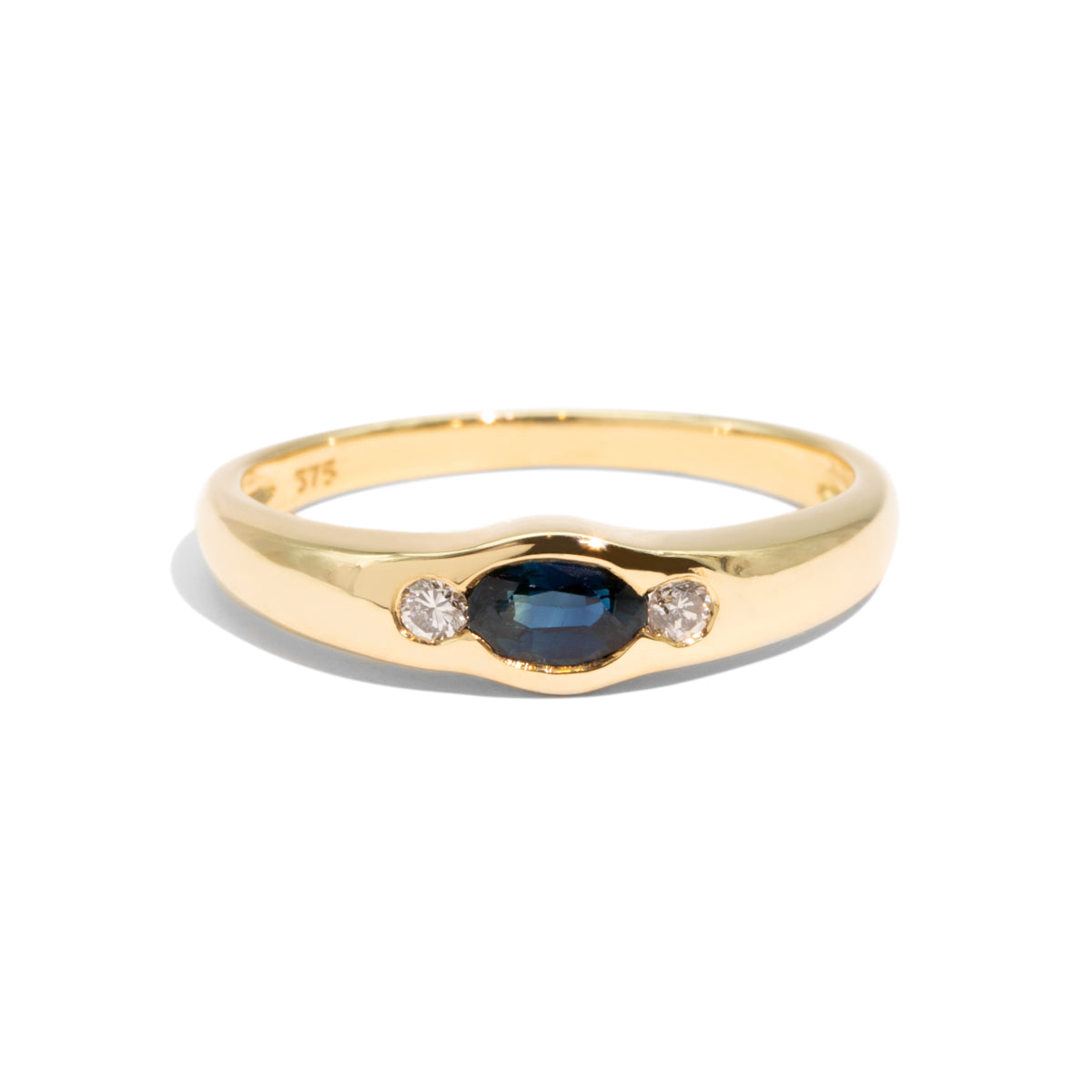 The Greta Vintage Sapphire & Diamond Ring