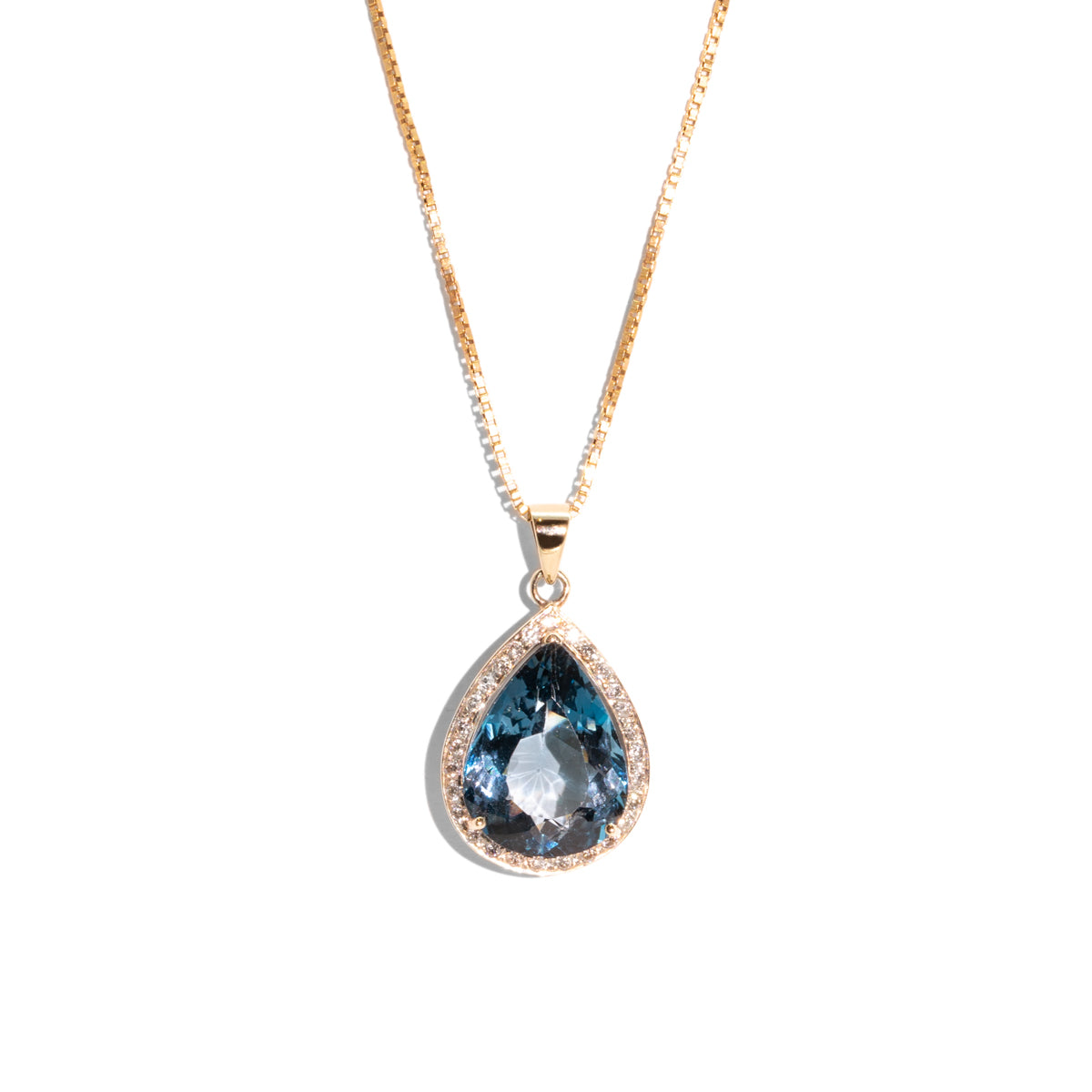 The Simone Vintage Topaz & Diamond Necklace