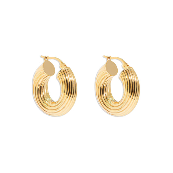 The Nina Vintage Hoop Earrings