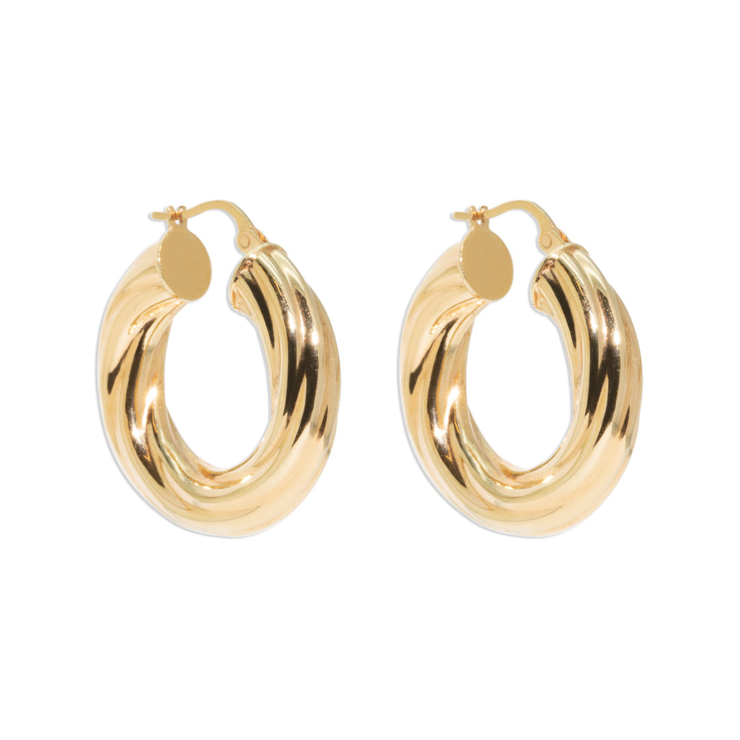 The Bessie Vintage Hoop Earrings