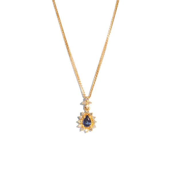 The Jeanne Vintage Sapphire & Diamond Necklace