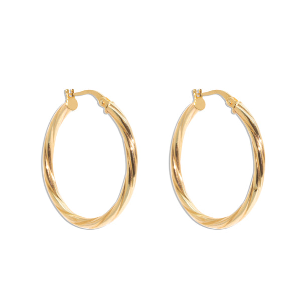 The Scarlett Vintage Hoop Earrings