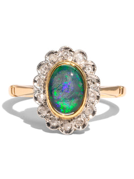 The Lisa Vintage Opal & Diamond Ring