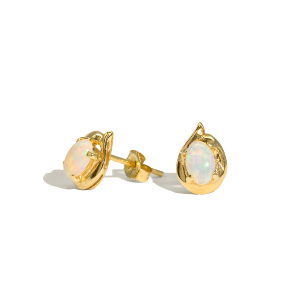 The Nova Vintage Opal Earrings