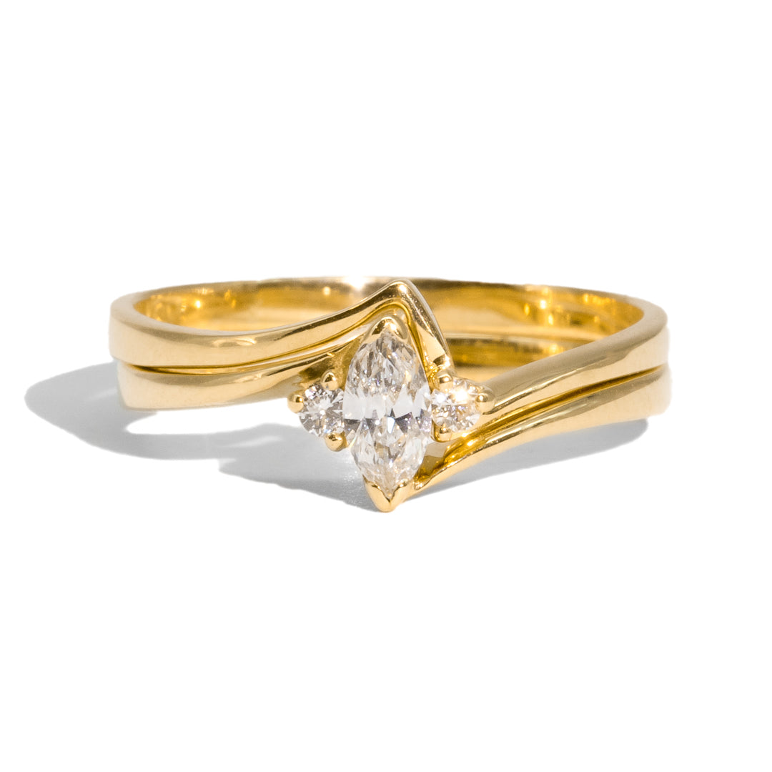 The Piper Vintage Diamond Ring Set