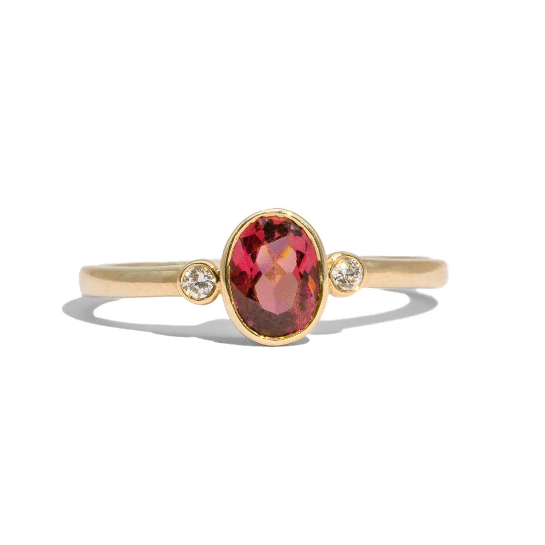 The Tilly Vintage Garnet & Diamond Ring