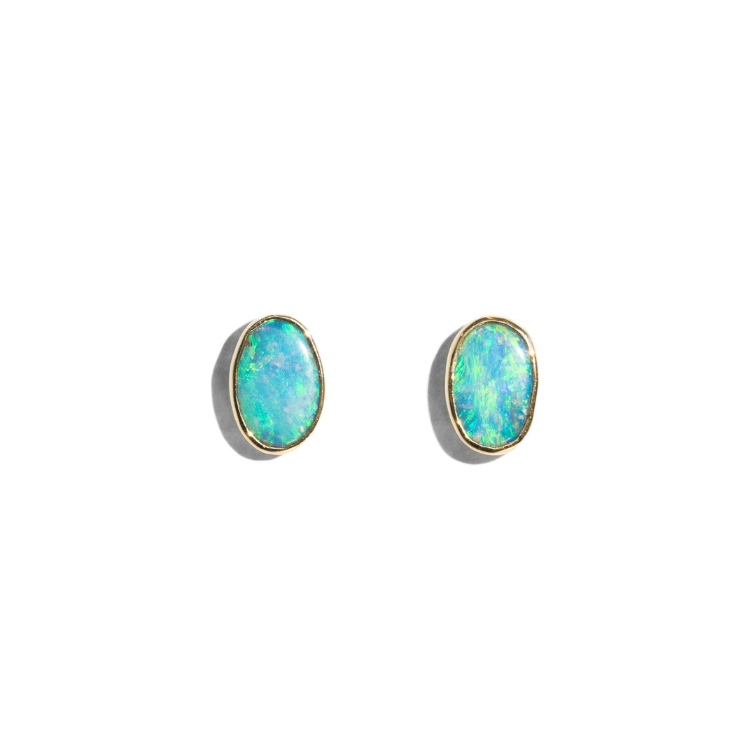The April Vintage Opal Stud Earrings