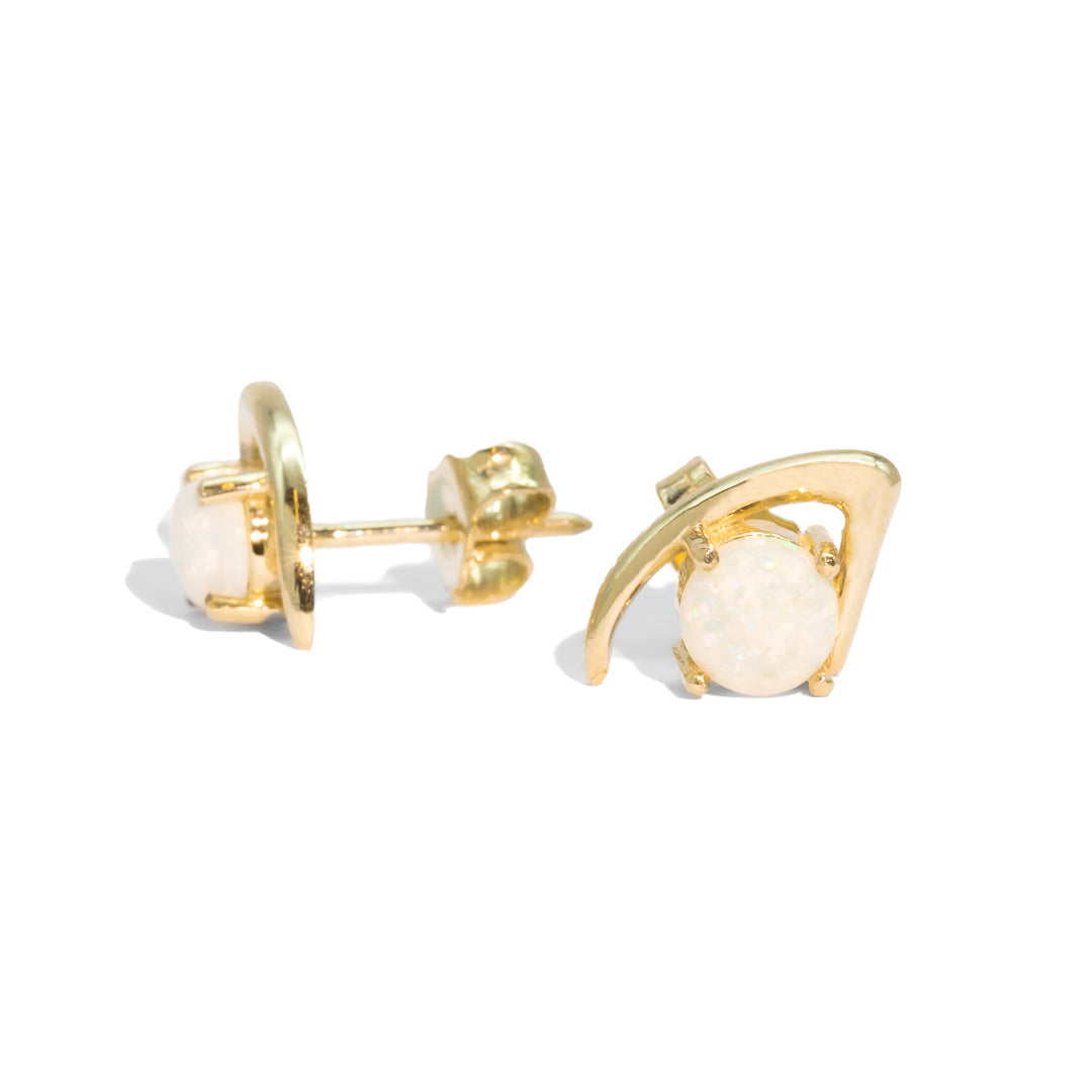 The Fifi Vintage Opal Stud Earrings