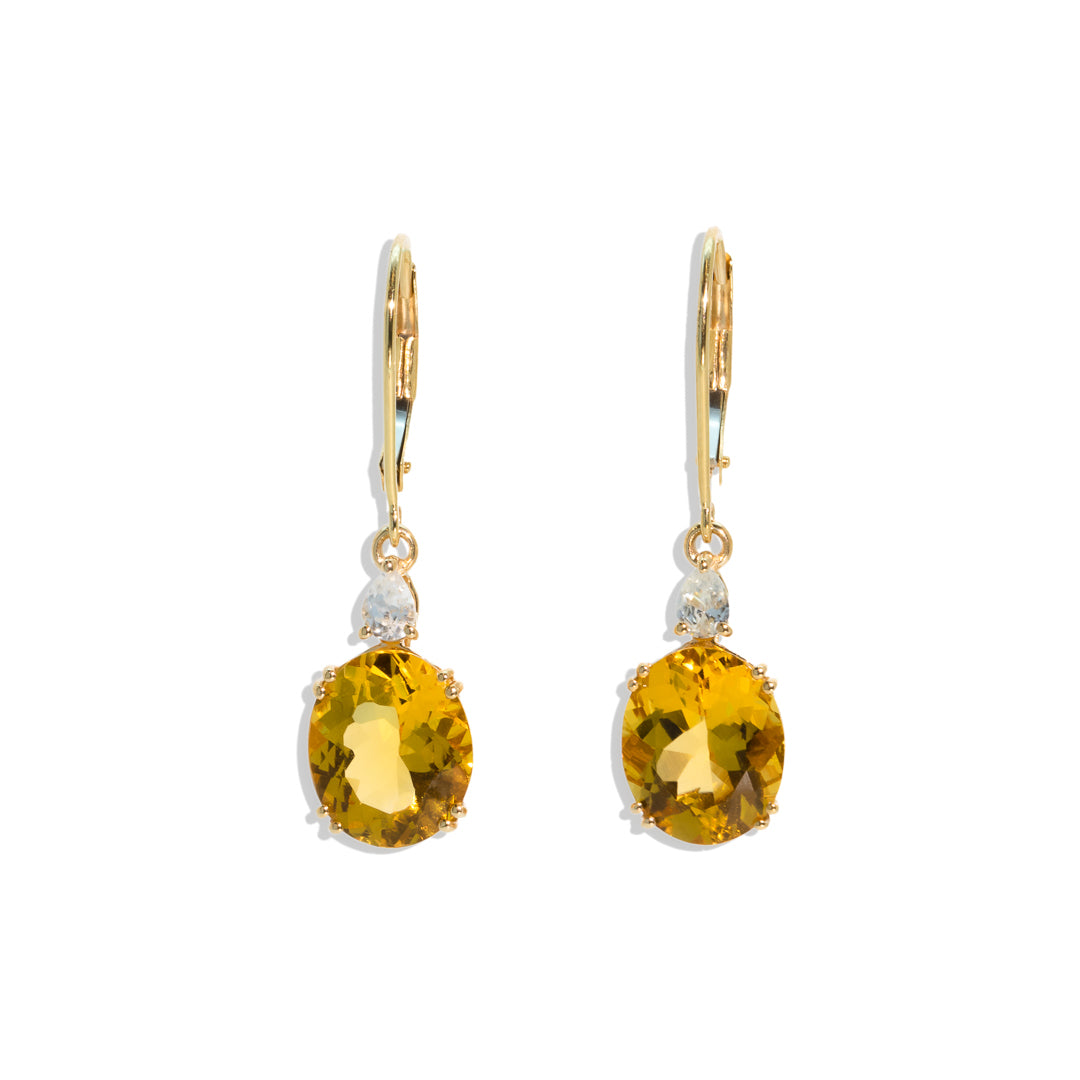 The Jasmine Vintage Citrine & Topaz Earrings