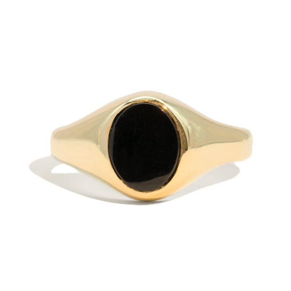 The Darcy Vintage Onyx Signet Ring