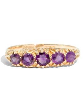 The Julia Vintage Amethyst Ring