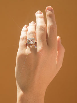 The Zoey Vintage Morganite & Diamond Ring