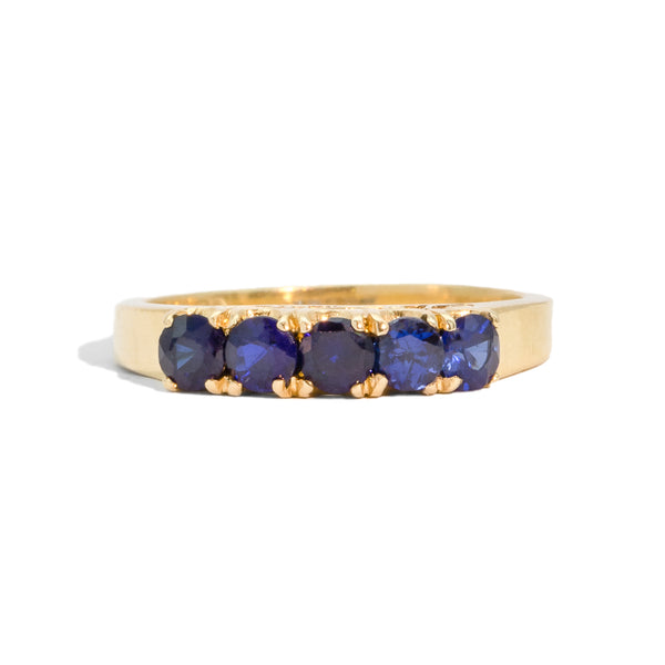 The Olivia Vintage Sapphire Ring