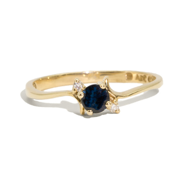 The Martina Vintage Sapphire & Diamond Ring