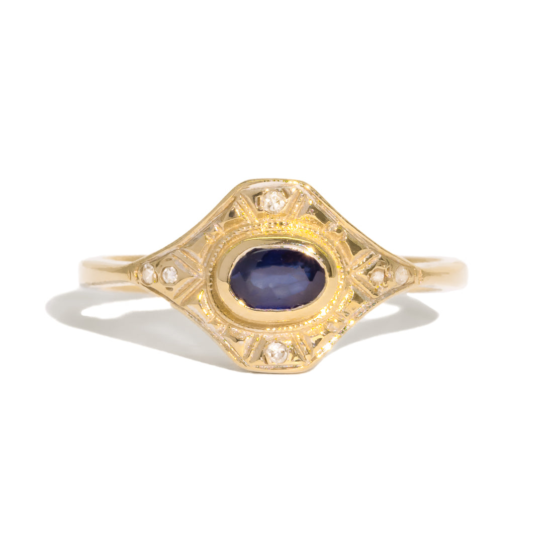 The Frances Vintage Sapphire & Diamond Ring