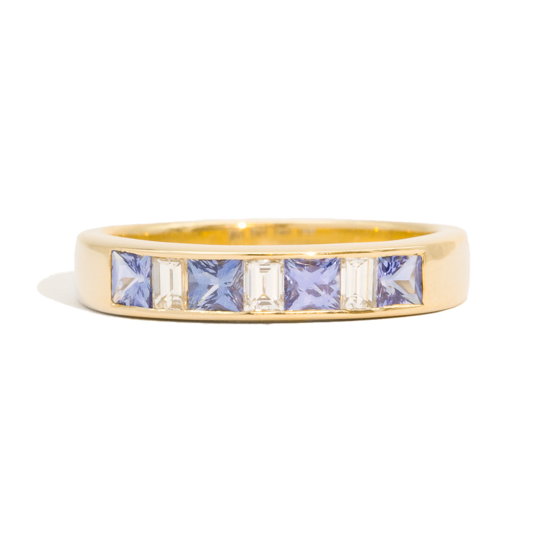 The Rebecca Vintage Sapphire & Diamond Ring