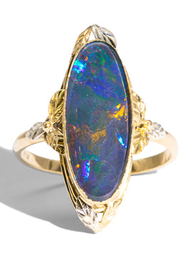 The Candice Vintage Opal Ring