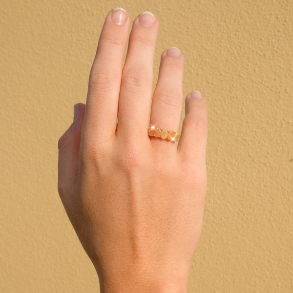 The Sunita Vintage Fire Opal Ring