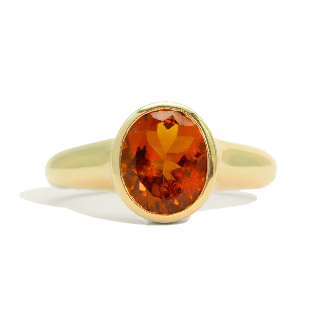 The Essie Vintage Citrine Ring