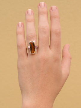 The Elly Vintage Citrine, Sapphire & Diamond Ring