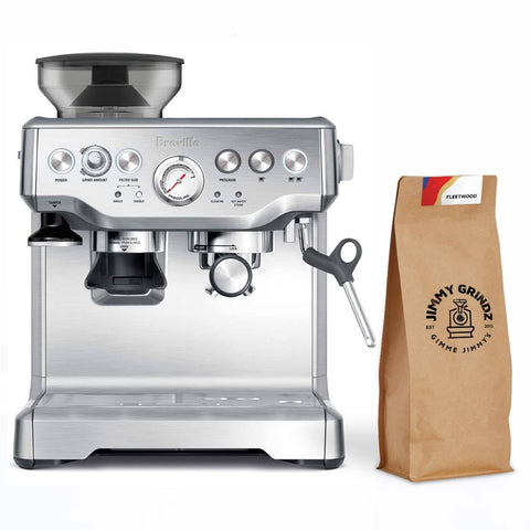 Breville Barista Express & Jimmy Grindz Coffee - (Monthly Subscription)
