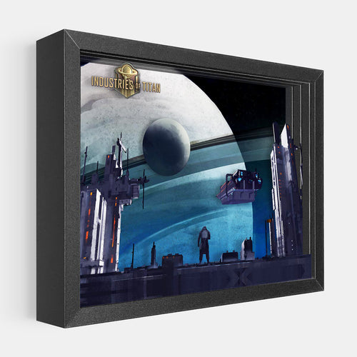 Industries of Titan Shadowbox Art from Artovision