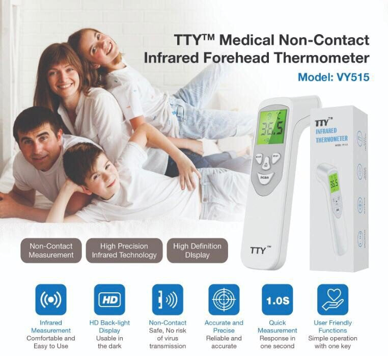 Infra-red Thermometer FDA  No touch Baby adult forehead