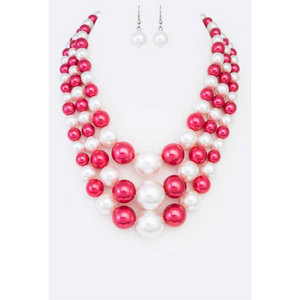 Red & White Pearl Set