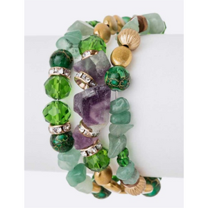 Wired Spring Mix Beads Bracelet