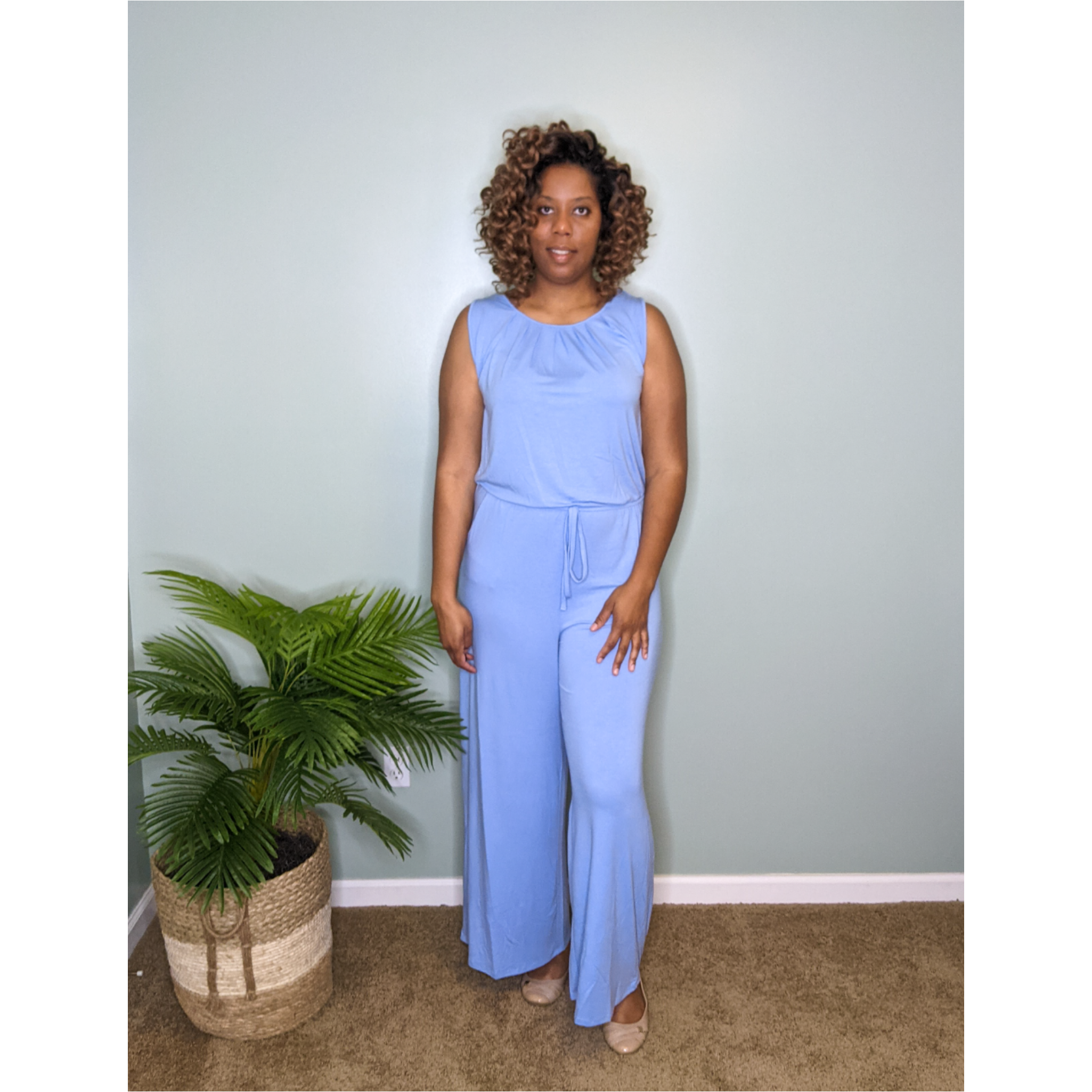 Casual Jumpsuit (Spring Blue)