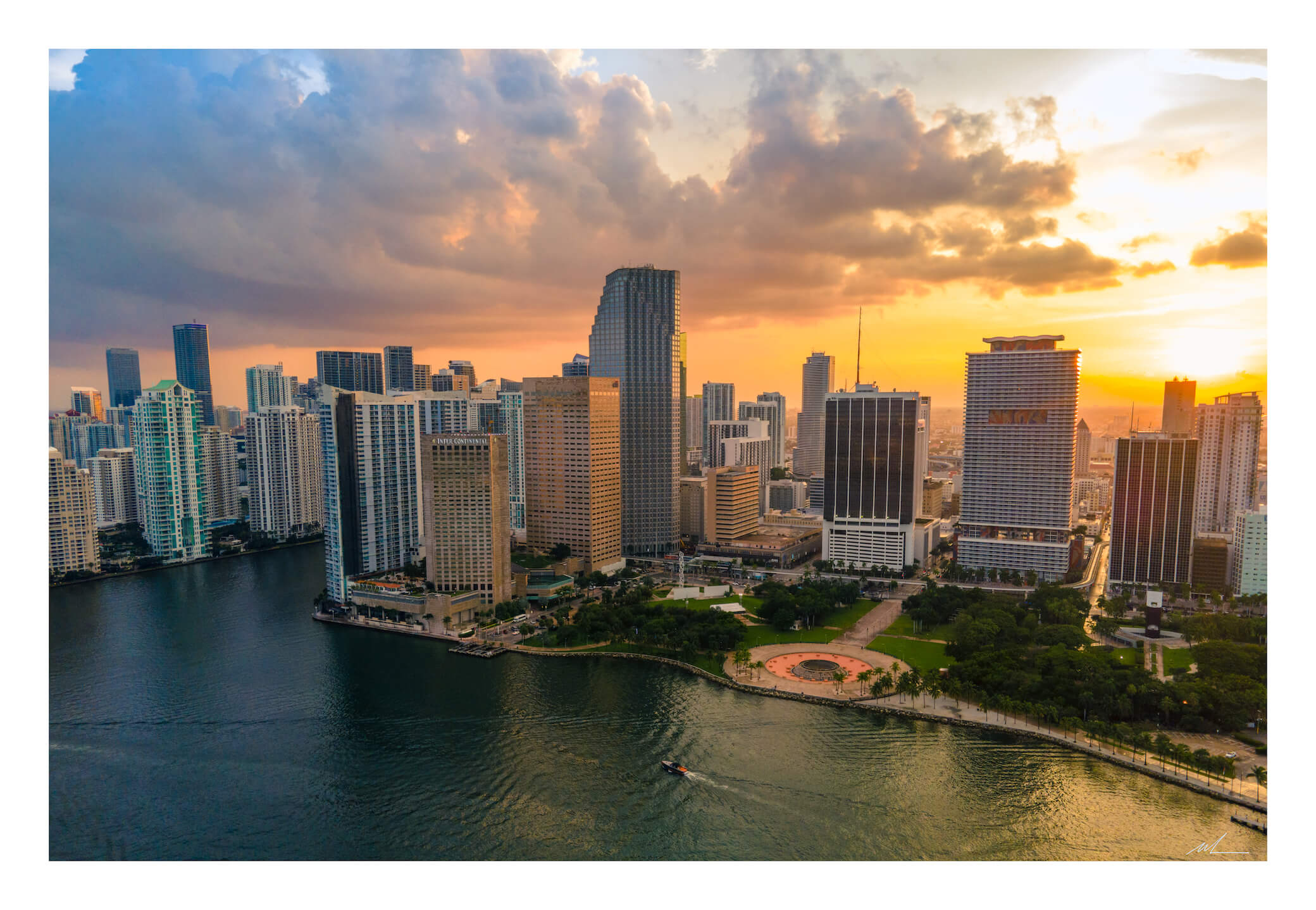 Downtown Miami Sunset Print