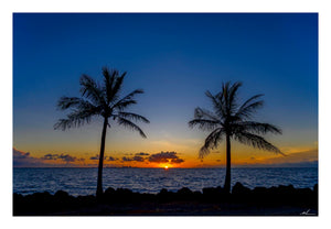 Sunrise Against Palm Trees - Sale