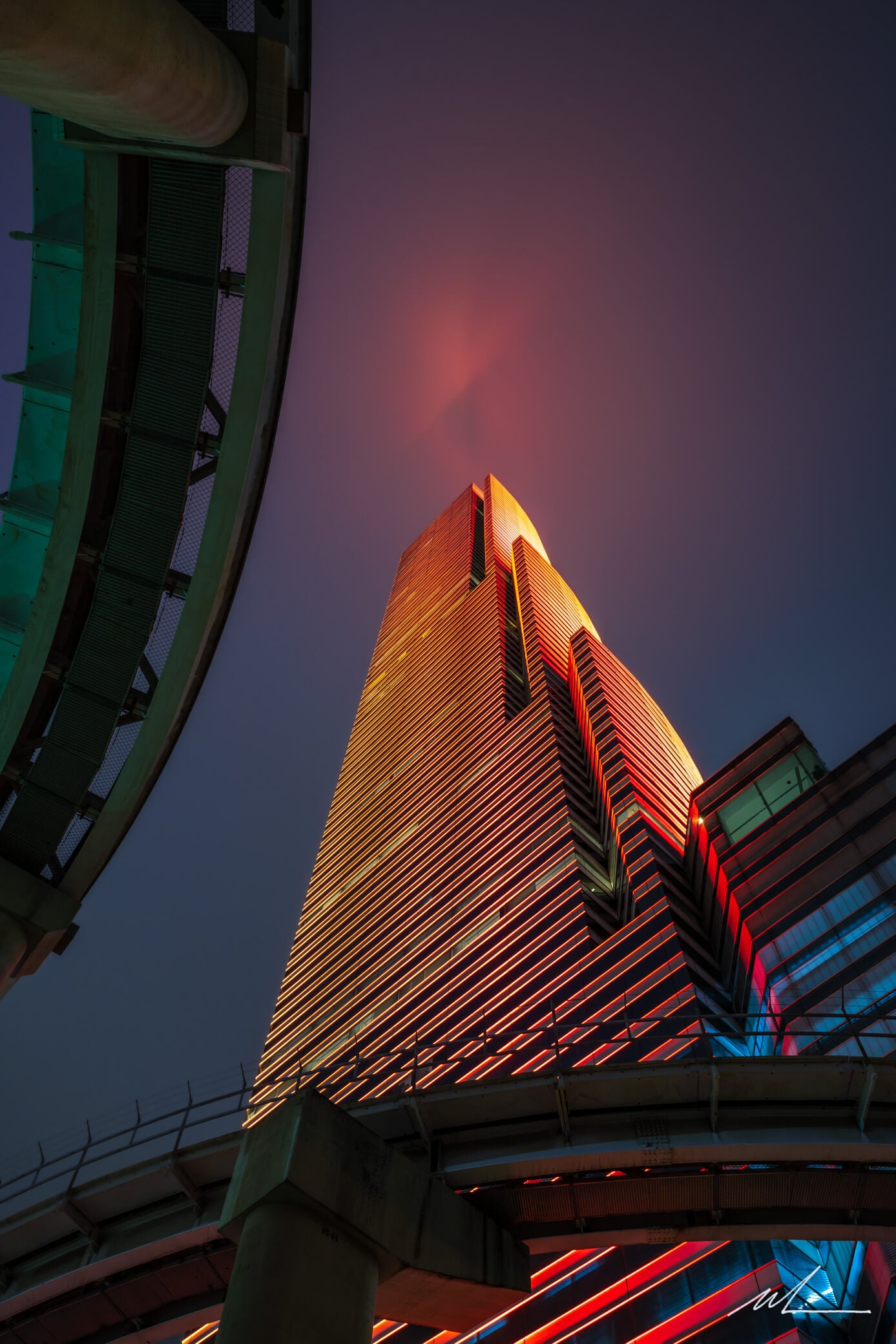Miami Tower in Red